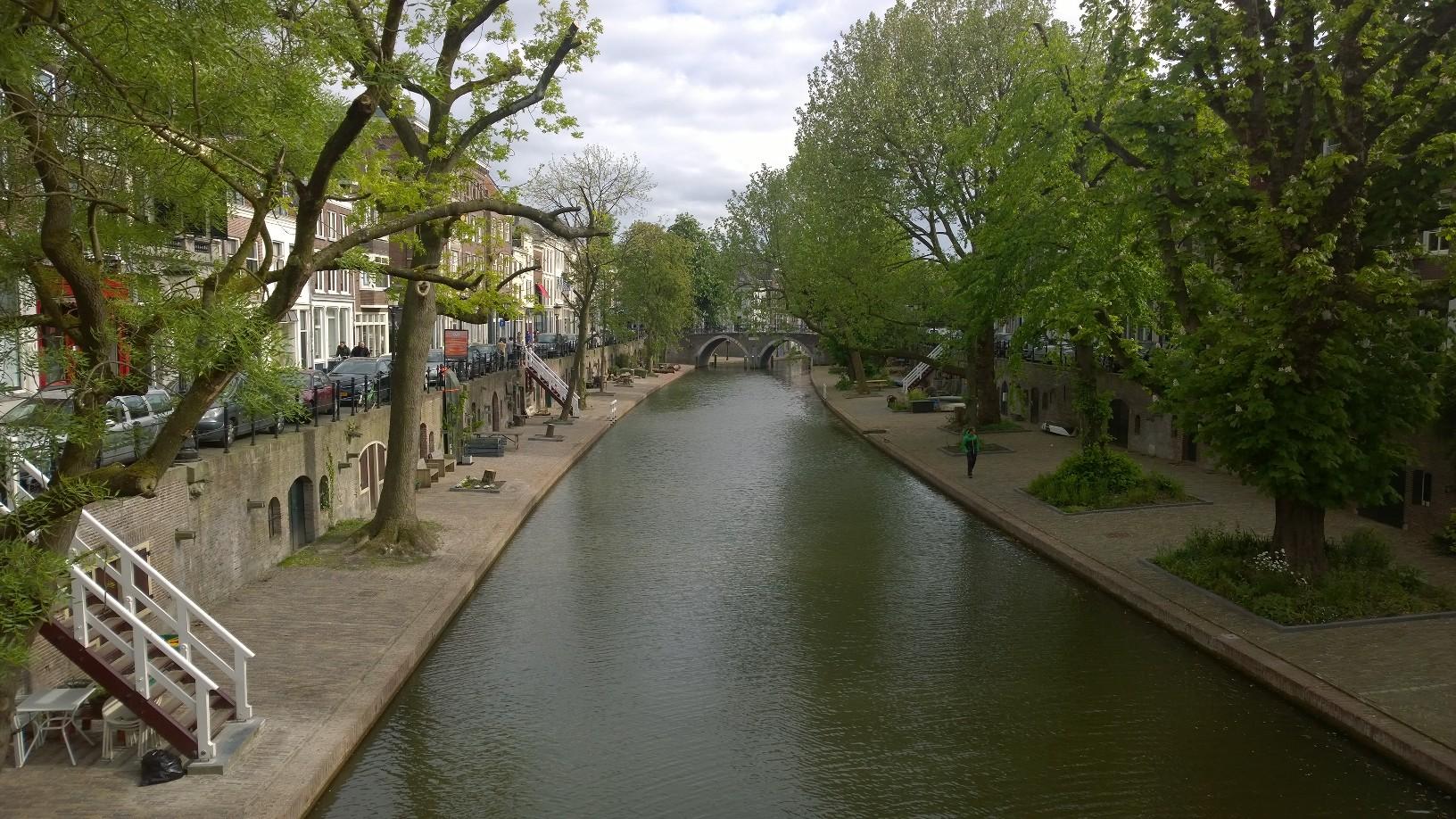 Oudegracht Utrecht mei 2016